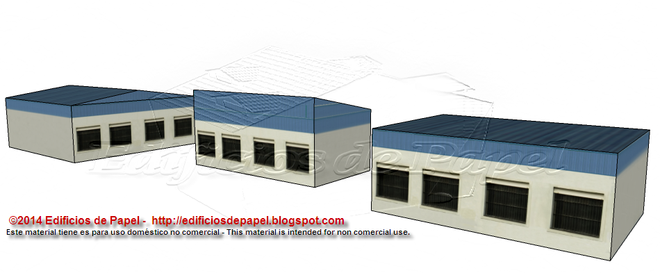 Second paper model of the Port Warehouse series
