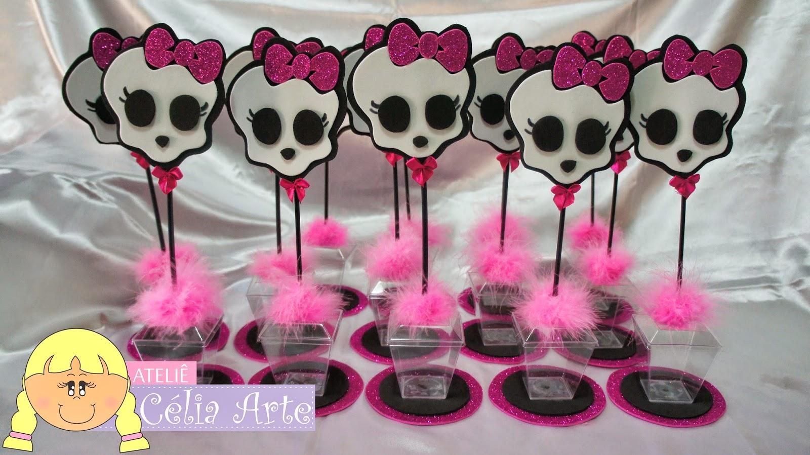 Ateliê Celia Arte: Encomenda Entregue Centro de mesa Monster High
