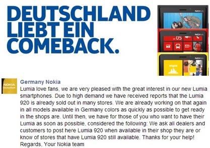 Nokia Lumia 920 statement