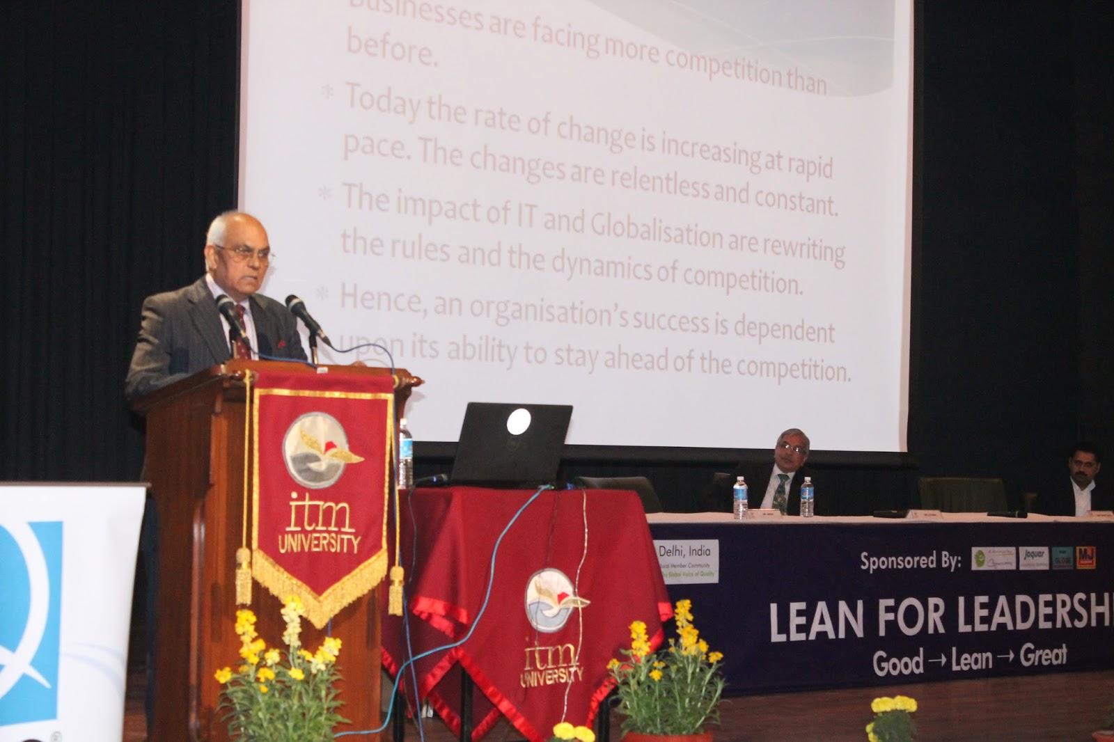 ITM University hosts 'Lean for Leadership' Workshop