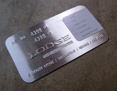 tarjetas de visitas metalicas