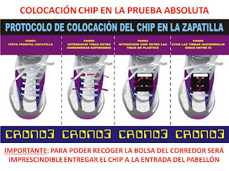 PRUEBA ABSOLUTA CRONOMETRADA CON CHIP EN LA ZAPATILLA