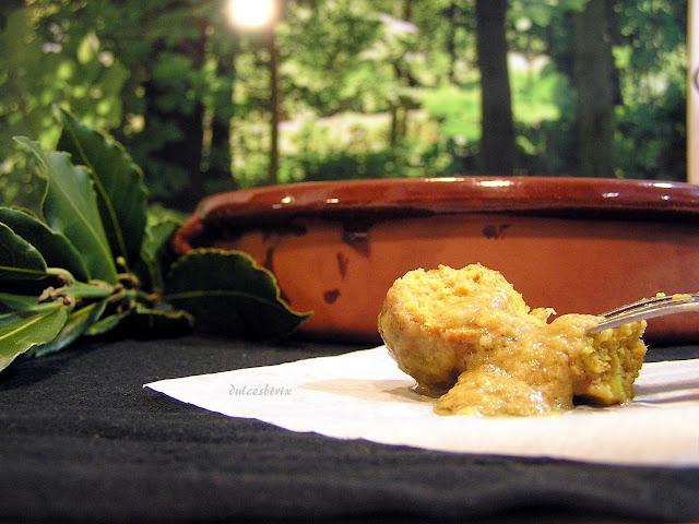 Albóndigas con salsa de almendras-dulcesbtrix