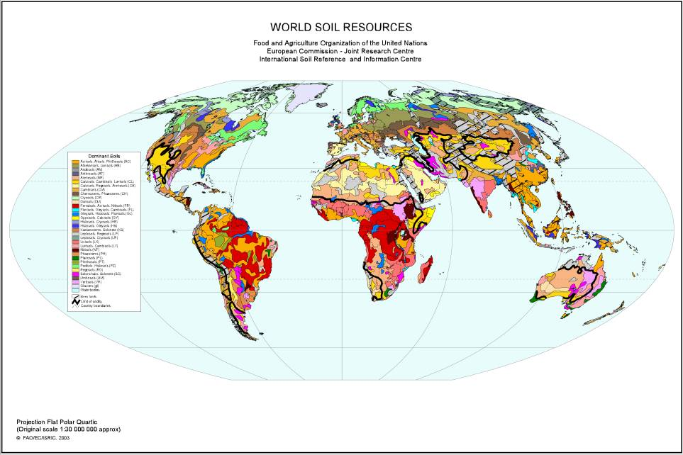Where is the most fertile soil on earth for About soil resources