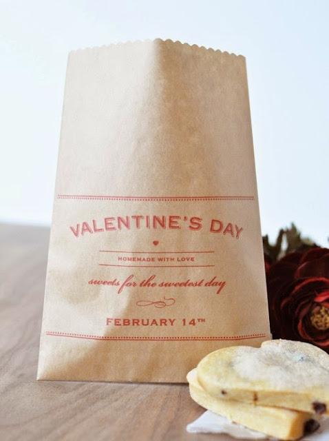 imprimible bolsas de San Valentin, Free Printable Valentine bag