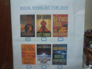 wishlist 2014, novel dan brown