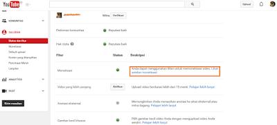 monetise setting youtube1