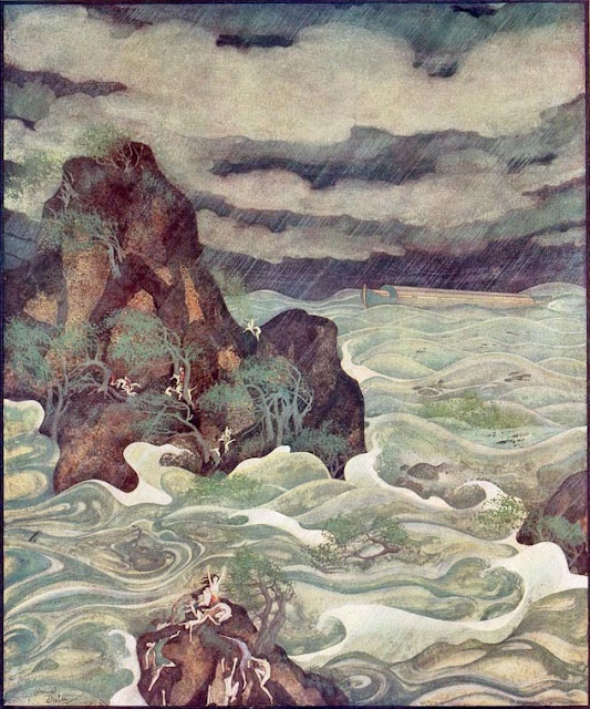 Edmund Dulac  The Flood