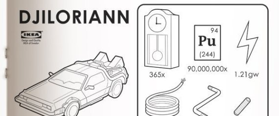 Ikea assembly guide for Back to the Future Delorean car vehicle