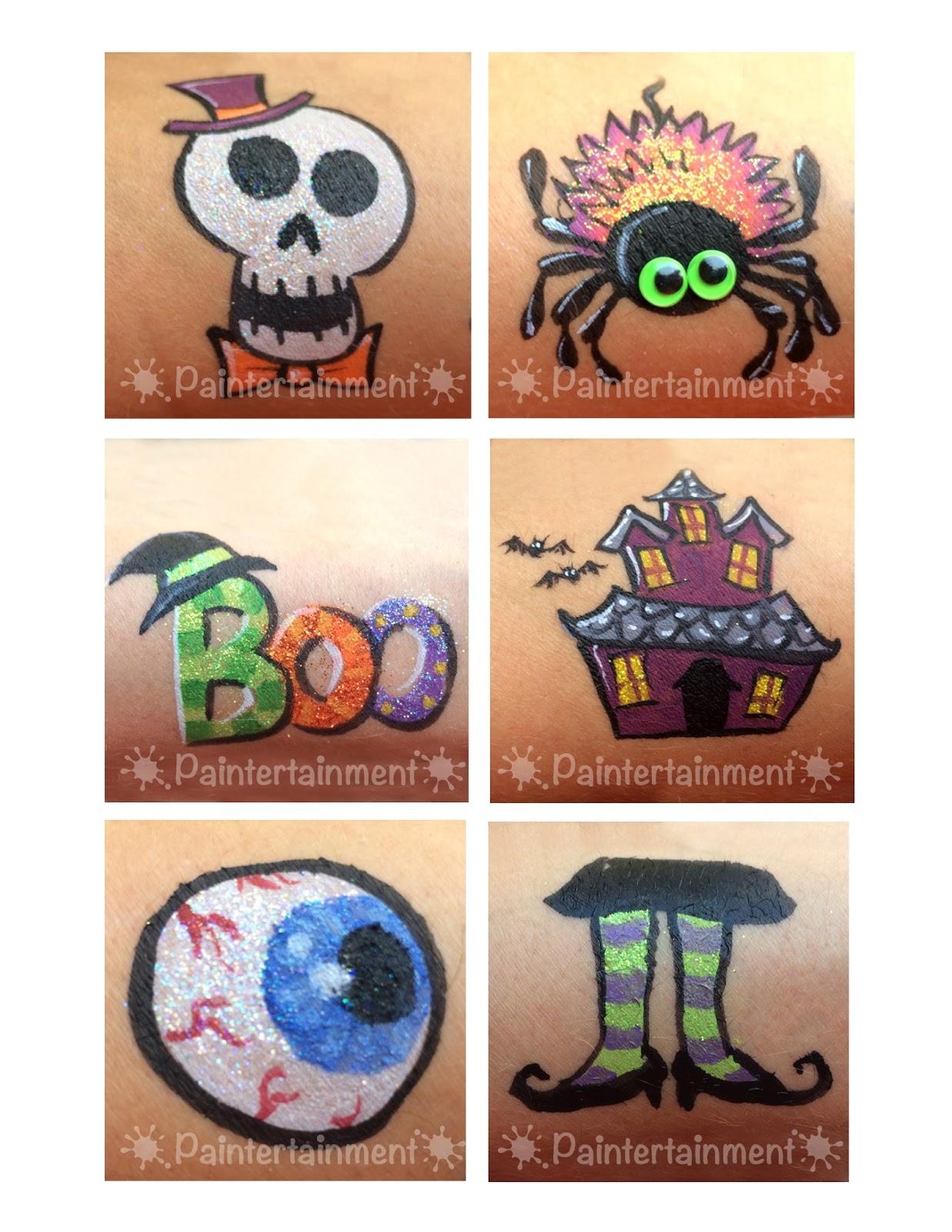 Paintertainment halloween face paintin 2015 for Halloween painting ideas