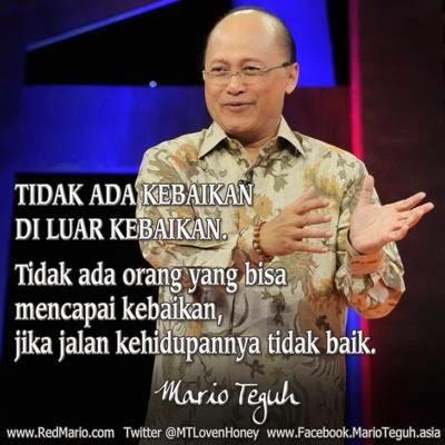 Kata-kata Mutiara Mario Teguh