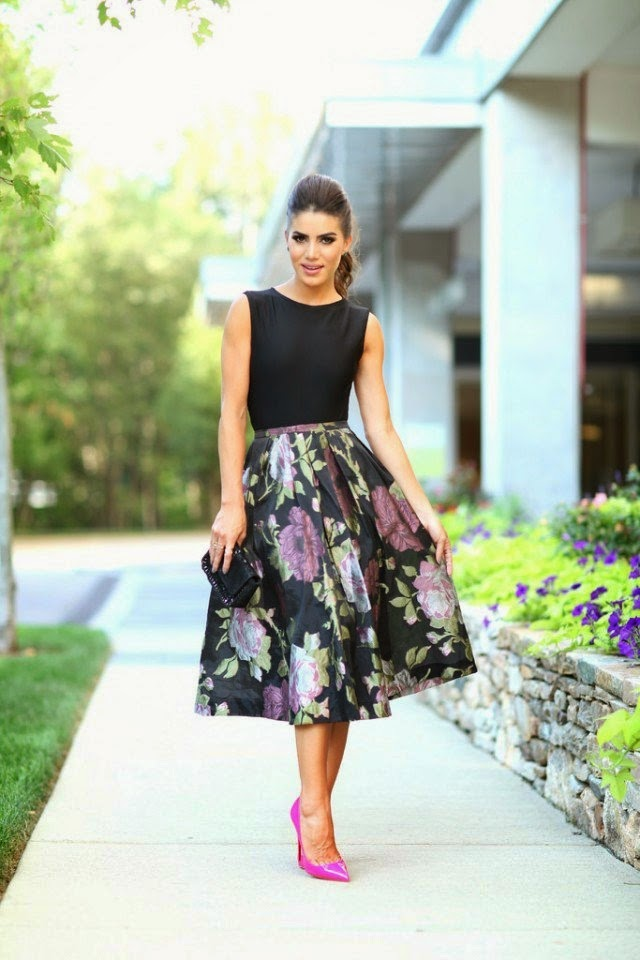London Fashion Trends of 2015 | Outfit with midi skirt