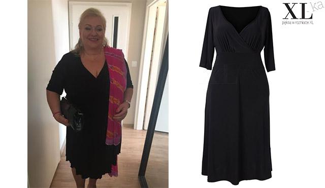 moda po pięćdziesiątce czarna sukienka