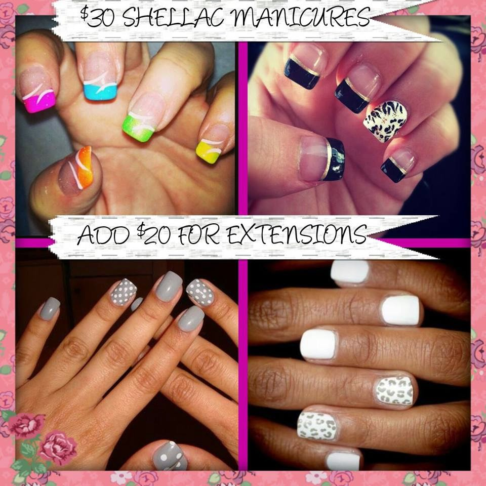 Shellac white French  acrylic extensions nail art