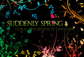 Suddenly Spring Photoshop Brushes, brushes photoshop, Photoshop Brushes, CS5