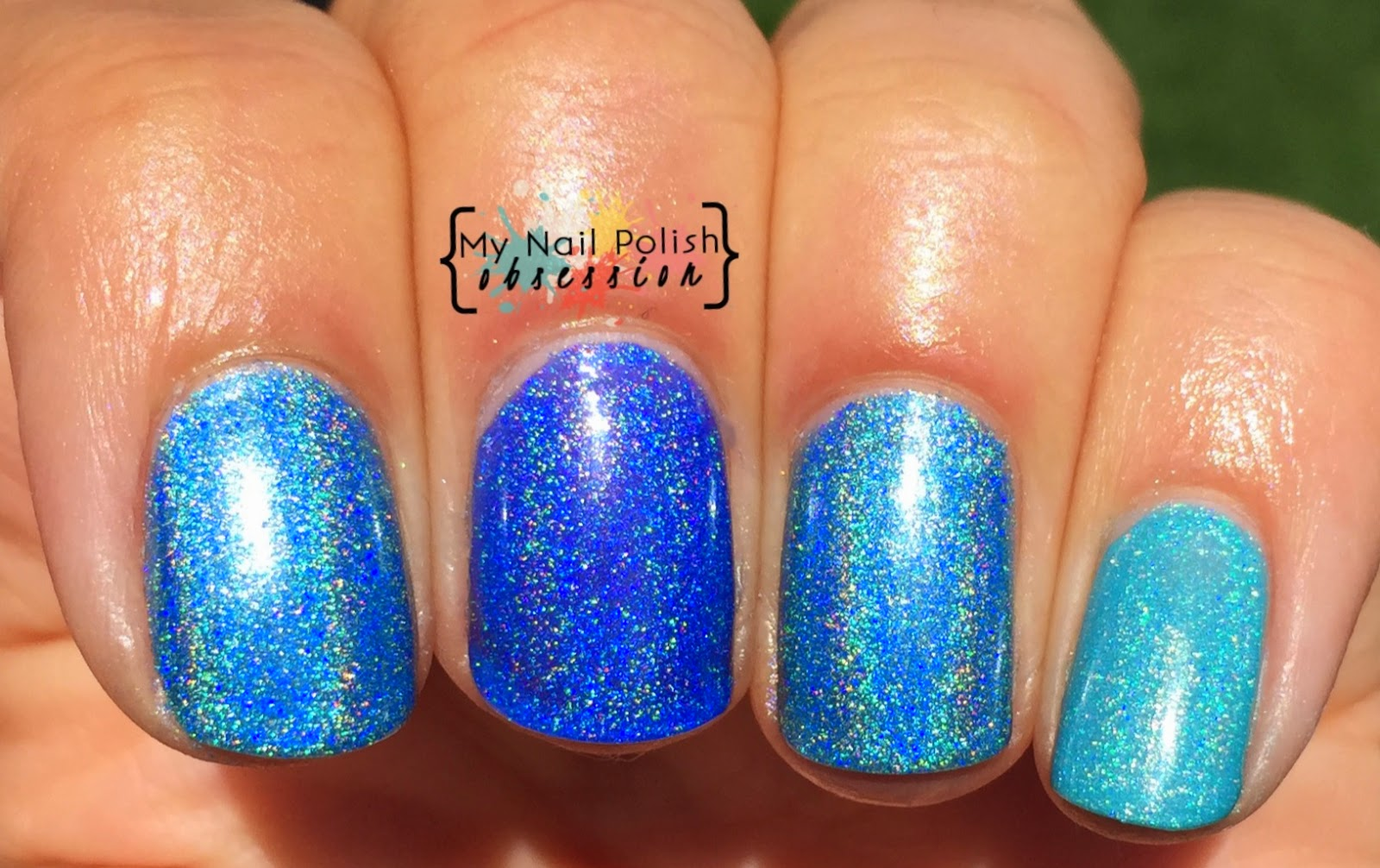 Comparison of Smitten Polish A Bouquet of Warblers, Ker-Bloom & Himalayan Blue Poppy