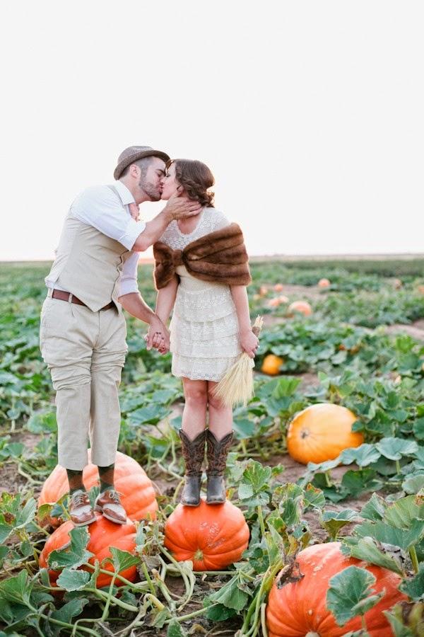 sesion preboda con calabazas blog bodas mi boda gratis