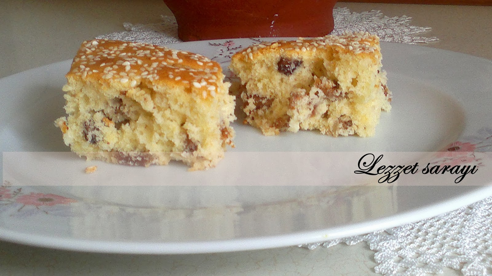 İncirli Cevizli Pudingli Kek