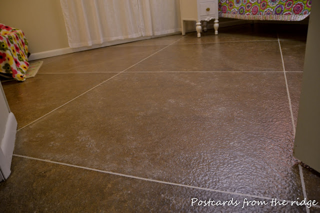 Postcards From The Ridge DIY Faux Painted Tile Floor