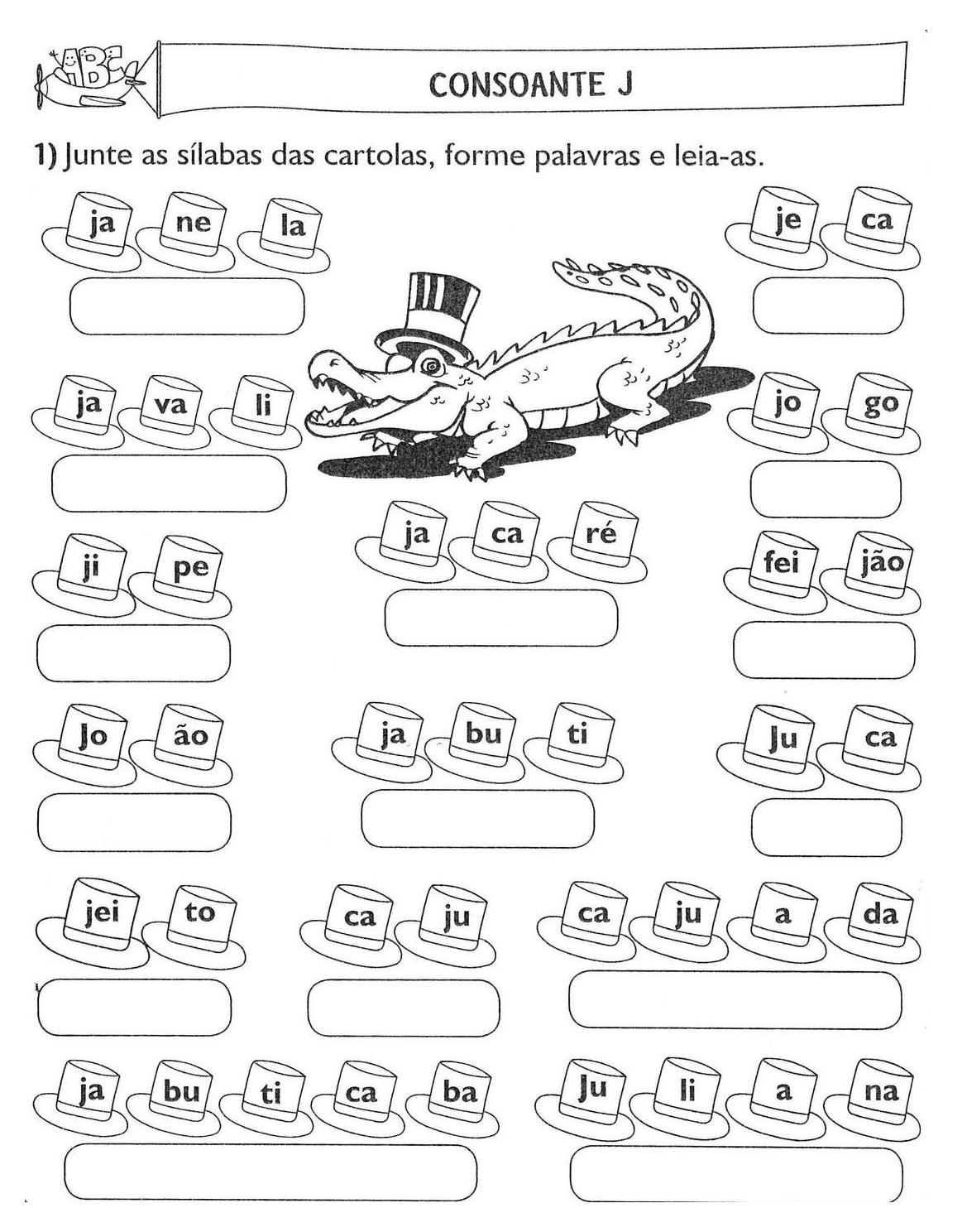 34 atividades de alfabetiza o s labas exerc cios desenhos for E and j motors