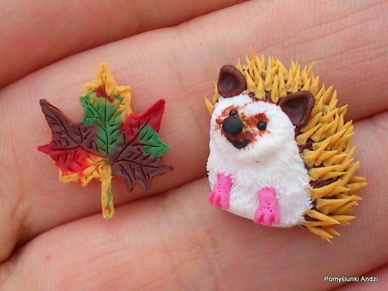 hedgehog, jeż, earrings, kolczyki,