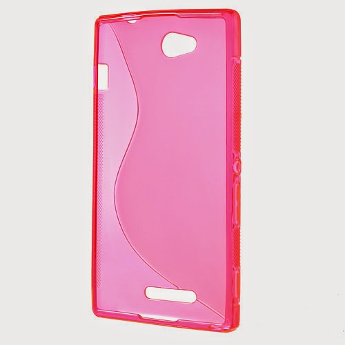 S-Curve Soft TPU Jelly Case for Sony Xperia C C2305 S39h - Pink