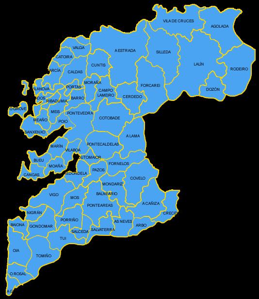 pontevedra municipios geograf a pinterest