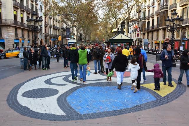 La Rambla Barcelona ground mosaic