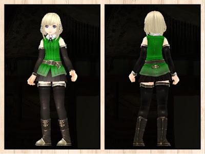 冒険者の服 緑色1 軽量化