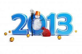 2013 con una bola de nieve en el cero