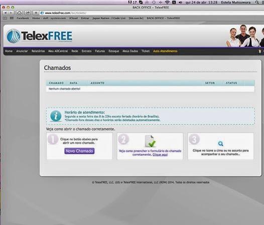 Site da Telexfree volta a funcionar no Japão hoje 24 de Abril