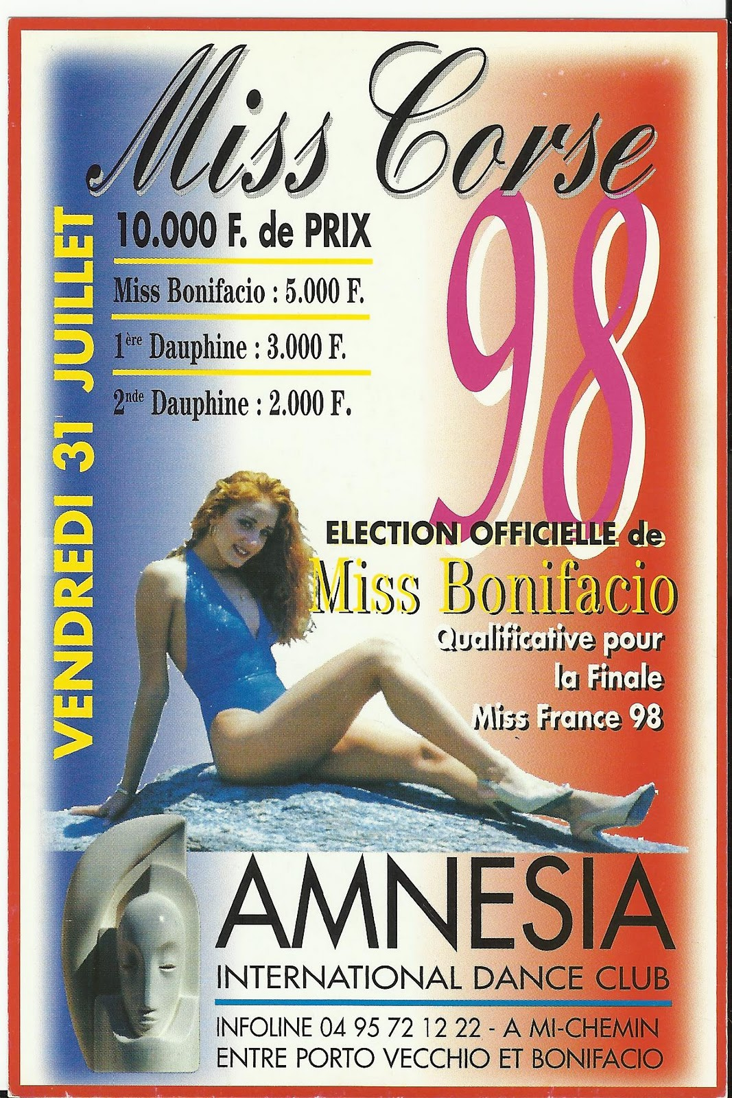 amnesia bonifacio corsica les flyers amnesia summer 98 revival. Black Bedroom Furniture Sets. Home Design Ideas