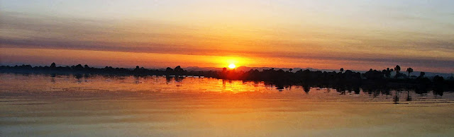 sunrise on the river Nile