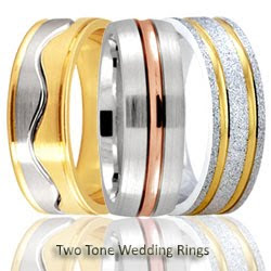 Two Tone Wedding Ring