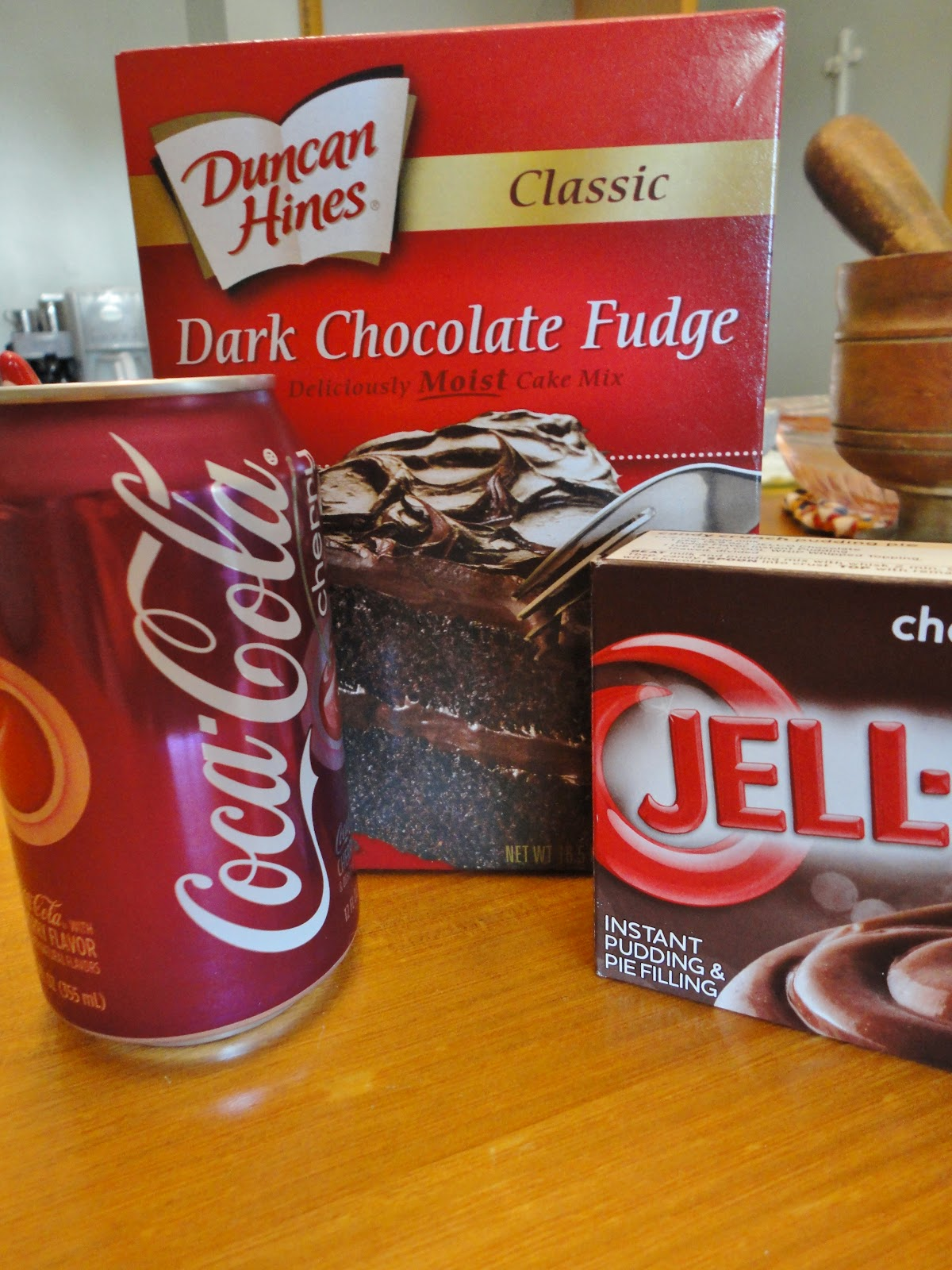 ... to combine a few of his favorites- fudgy chocolate and Cherry Coke