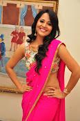 Anasuya dazzling saree photos-thumbnail-16