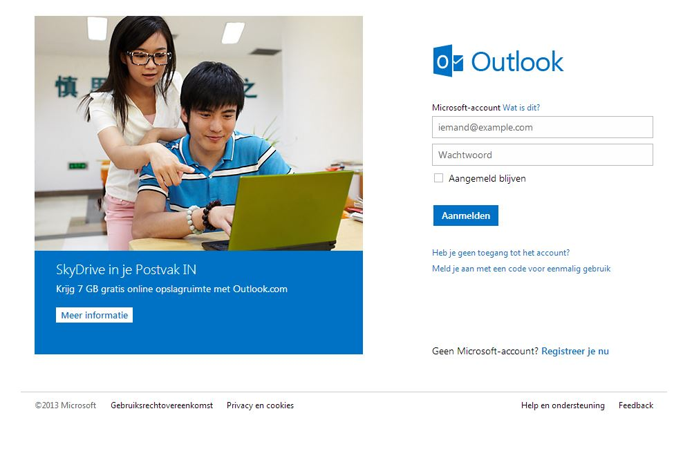 oude hotmail inloggen
