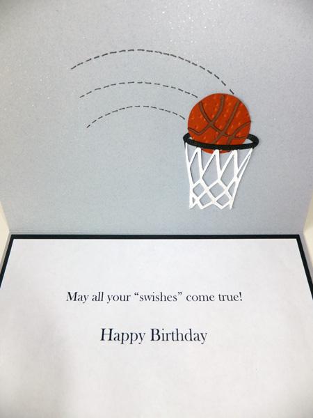 paper panacea basketball birthday card, Birthday card