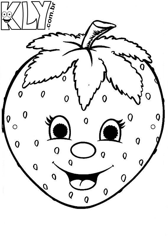 Desenho De Morango Para Imprimir