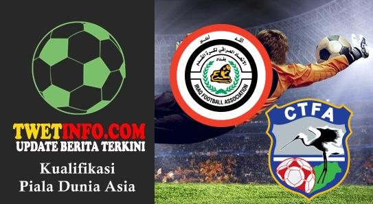 Prediksi Iraq vs Chinese Taipei, Piala Dunia Asia 03-09-2015