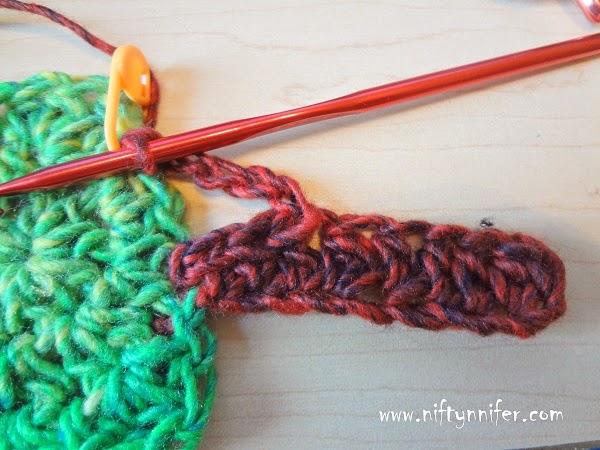 Niftynnifers Crochet Crafts Free Crochet Pattern Apple Tree Motif