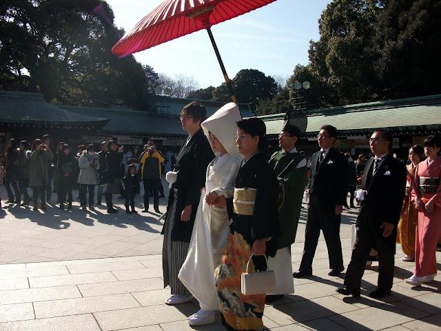 Boda en Templo Meiji-Jingu Tokio