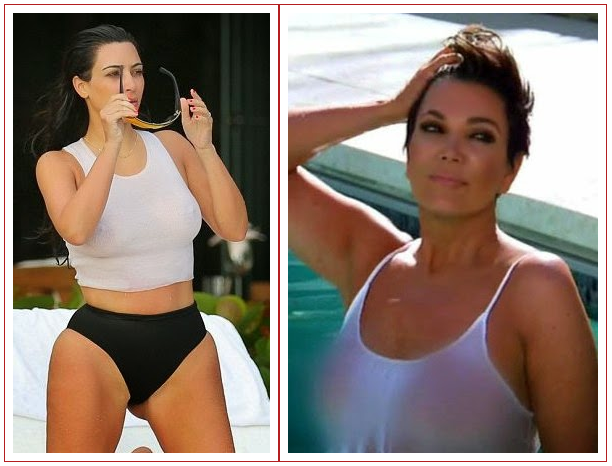 Kris Jenner Does A Kim Mom Also Flashes Her Npples In See Through