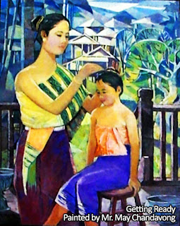 Lao Artist Profile - Getting Ready painted by May Chandavong