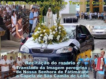 Recitação do rosário e da carreata da Imagem peregrina de N. S. de Fátima até Capela de São Camilo