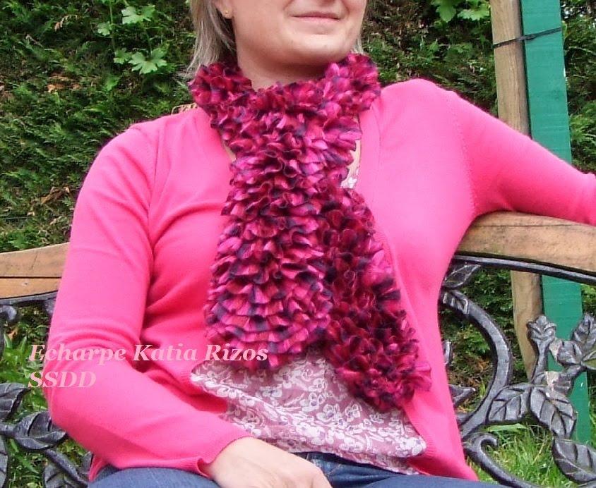 Comment tricoter une echarpe katia rizos - Tricoter une echarpe en laine ...
