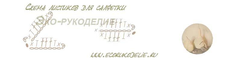 схема листиков для салфетки