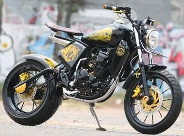 Modifikasi Yamaha Scorpio on Modifikasi Yamaha Scorpio Z  Streetfighter X Konsep Bobber   Lintas