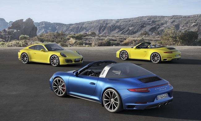 Porsche 911 Carrera 4 và Targa 4 trang bị động cơ tăng áp