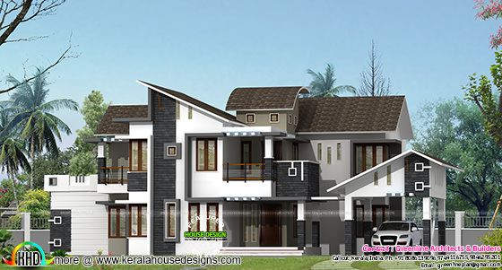 All style mix roof house design